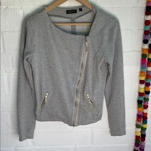 Gray Asymmetrical Zip up Jacket sz S